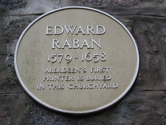Photo of Edward Raban yellow plaque