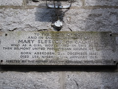 Photo of Mary Slessor stone plaque
