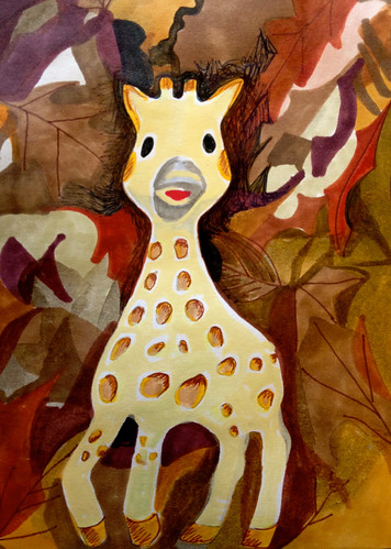 The lost giraffe toy by Michelle Schamis