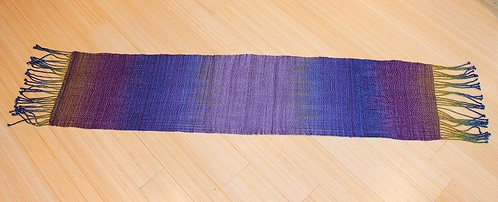 Finished painted skein scarf