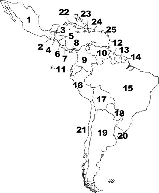 Countries and Capitals of Central and South America Quiz - By ...