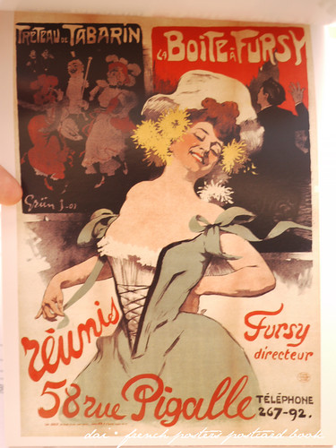French posters postcard book