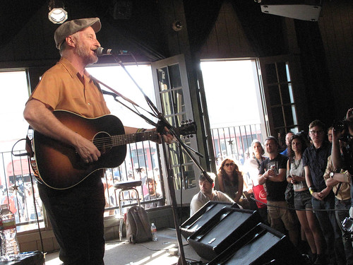Billy Bragg at the Paste party