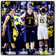 SDSU's Nate Wolters walks off the court following their 71-56 loss to Michigan. #jacksncaa