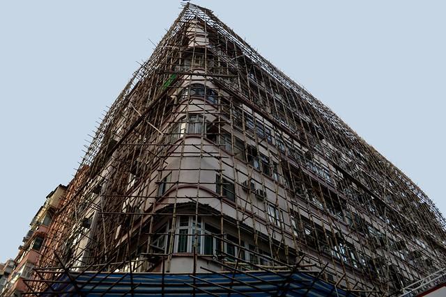 Bamboo scaffolding, Hong Kong