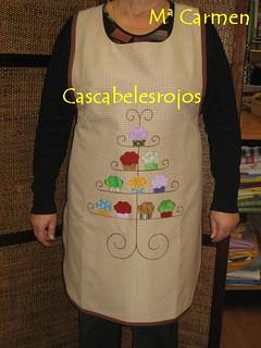 Delantal con cupcakes