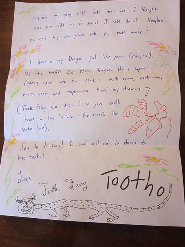 Letter from Tooth Fairy, page 2