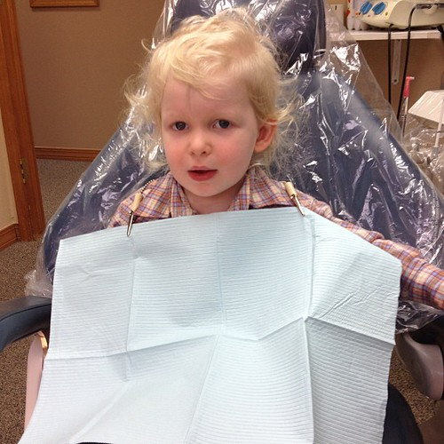 First dentist appointment! Happy birthday, little dude. Have some clean teeth!