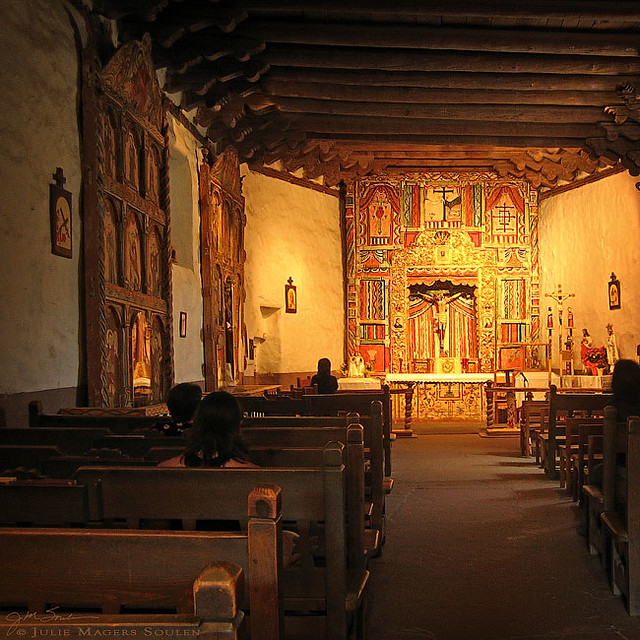 Southwestern Mission In Chimayo New Mexico