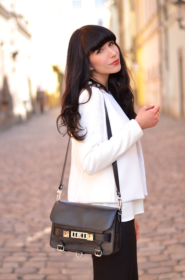White Outfit Mango Kurt Geiger Zara in Prague 1