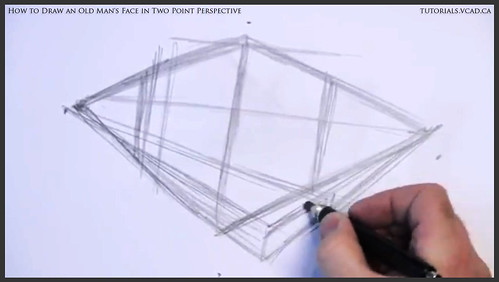 learn how to draw an old man's face in two point perspective 004