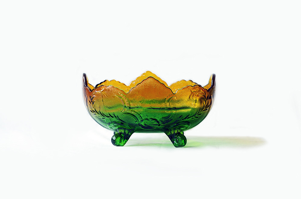 Vintage Yellow/Green Ombre Dish