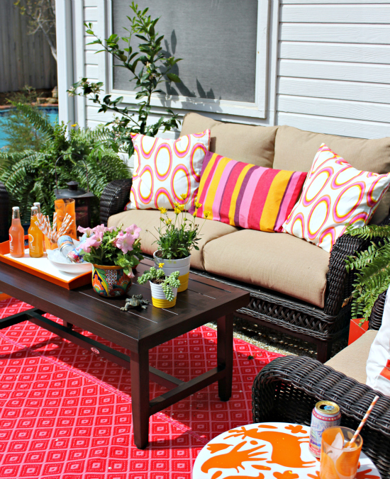 Hi sugarplum home depot challenge patio reveal for Home depot outdoor decorations