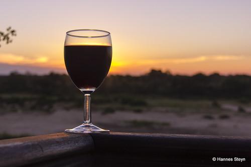 sunset red sky nature glass canon scenery wine dusk lodge mpumalanga sundowner 550d ngwenyalodge hannessteyn canonefs18200mmf3556is canon550d eosrebelt2i
