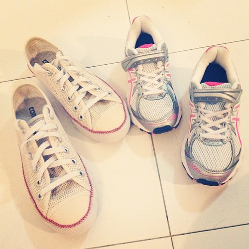 from today's shopping. aina got a pair of asics, i got a pair of converse ⭐