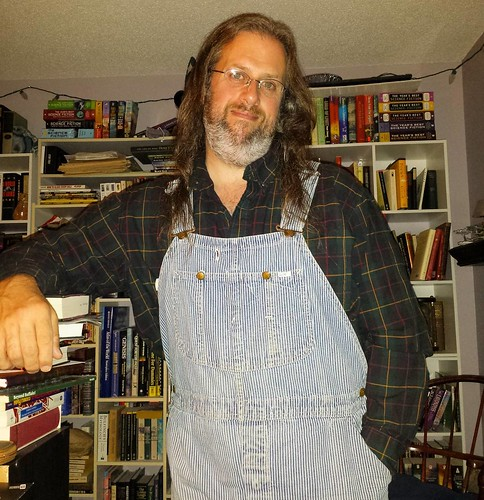 Another good writing day in the books. G'night, world! #amwriting #overalls #vintage #Lee #HickoryStripe