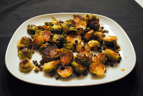 Crispy Brussels Sprouts with Crispy Capers