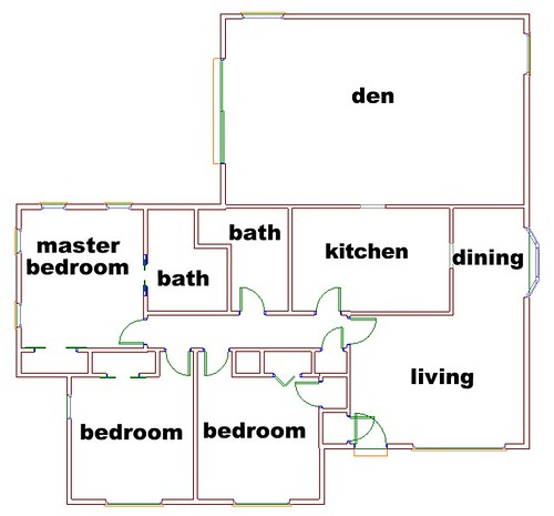 It's Great To Be Home - Original Floor Plan of Our 6th Flip