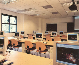 A computer science classroom in Andrew Science Building, which opened in spring 2000.
