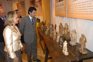 Aécio Neves e Ângela Gutierrez - Exposição de Sant'Anas - 11/05/2005