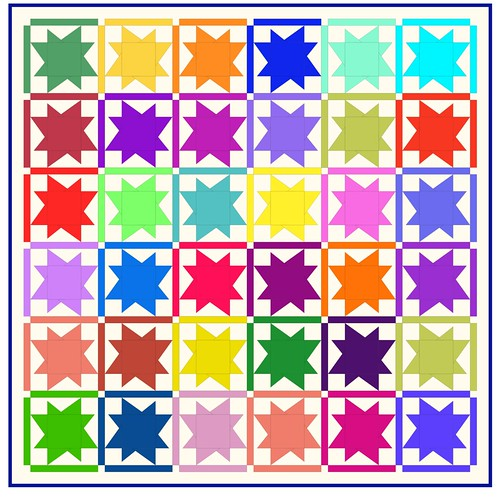 Stellar - quilt pattern for the simply solids sew along