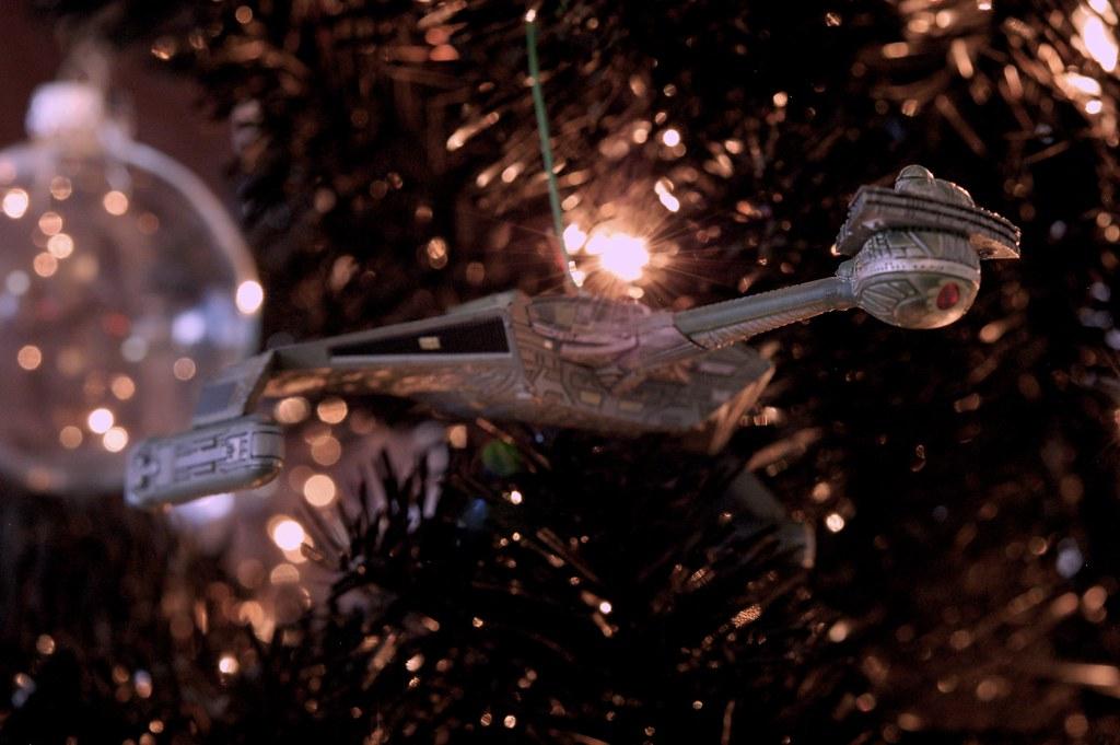 Klingon Battle Cruiser On The Star Trek Christmas Tree 2012