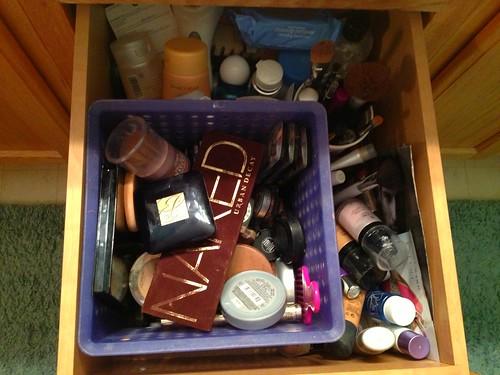 makeup, not so organized