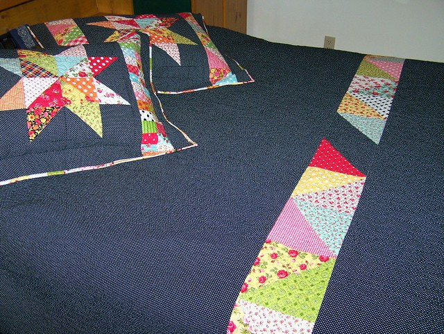 Mrs.Star Queen Sized Quilt Backing