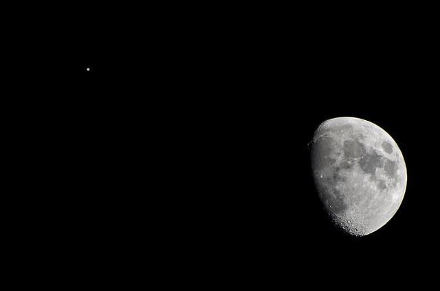 The Conjunction of the Moon and Jupiter | Flickr - Photo ...