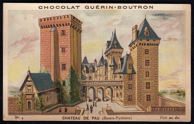 French Tradecard - Chateau De Pau