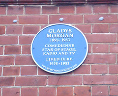 Photo of Gladys Morgan blue plaque