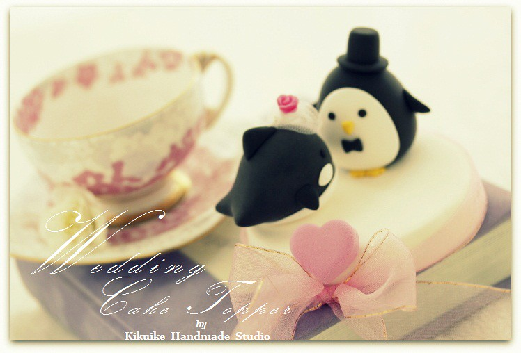 Love orca whale & penguin Wedding Cake Topper - a photo on Flickriver
