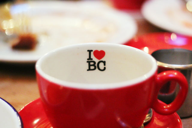 I heart breakfast club red mug