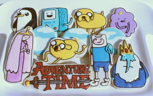 Adventure Time Themed Cookies by Polka-dot Zebra