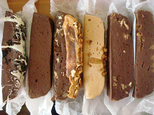 Ryba's Fudge - all in a row