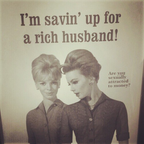 Saving for a rich husband