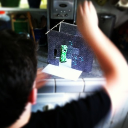 this is happening in our kitchen #unschooling #minecraft #teen