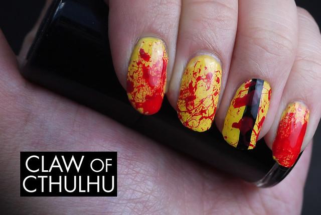 Kill Bill Inspired Nail Art