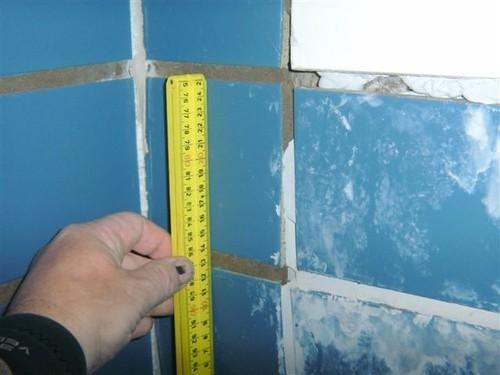Detail foto oude tegelreparatie