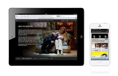 National Theatre Wales Website on Apple iPad and iPhone