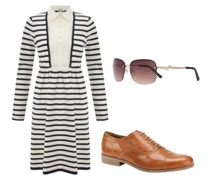 Somerset by Alice Temperley 2in1 Striped Dress