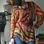 Missoni earth tone sheer tunic from tag sale in Old Westbury