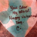water color coffee filter heart Valentines
