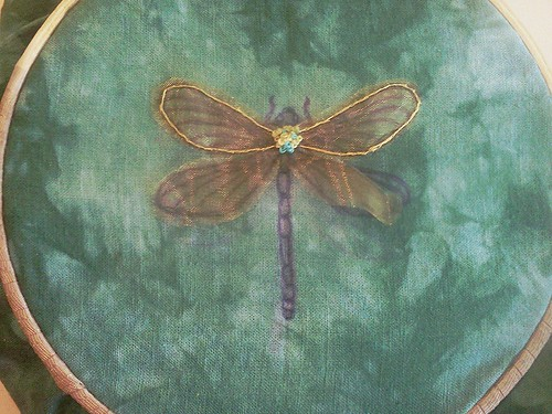 the start of the entomology pillows