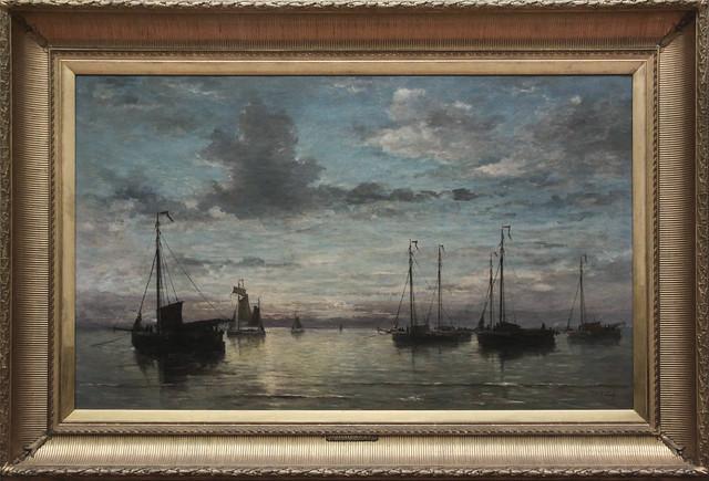 Avondstond op zee, Hendrik Willem Mesdag 1870
