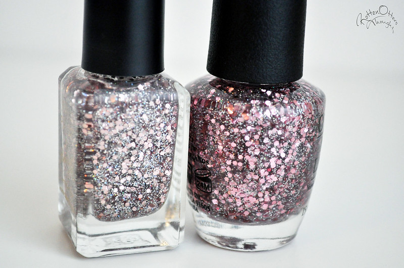 dupe opi pink yet lavender barry m rose quartz nail polish rottenotter rotten otters thoughts blog 4