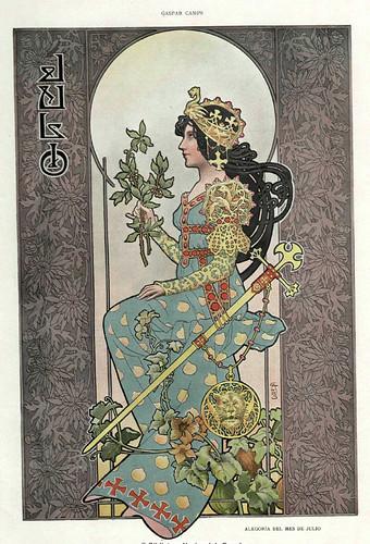 007-Alegoria del mes de Julio- Gaspar Camps-Revista Álbum Salón-Enero de 1901 -Hemeroteca de la Biblioteca Nacional de España