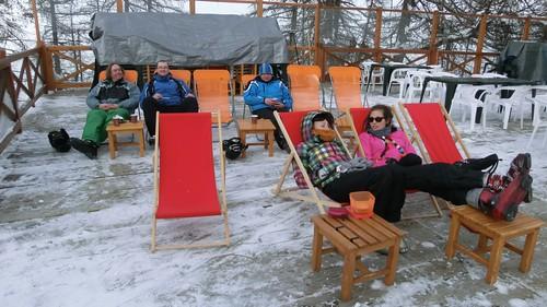 Odpočinek během lyžování