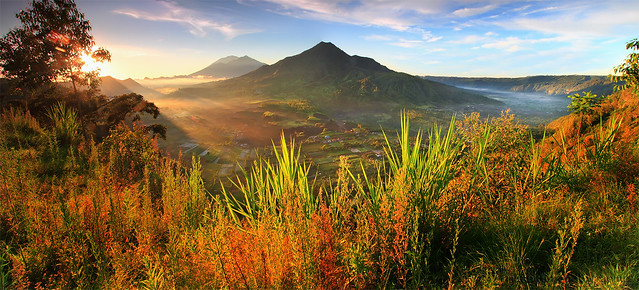 THE PANORAMA of BATUR CALDERA