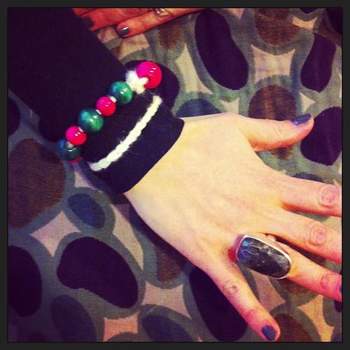 My new bracelet :) Mati's first crocheted project:) Il mio nuovo braccialetto:) Il primo progetto all'uncinetto di Mati:)